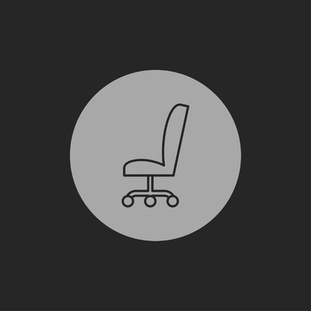 office icon: icon of office chair Illustration
