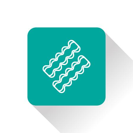 bacon strips: Vector bacon icon. Food icon. Eps10 Illustration