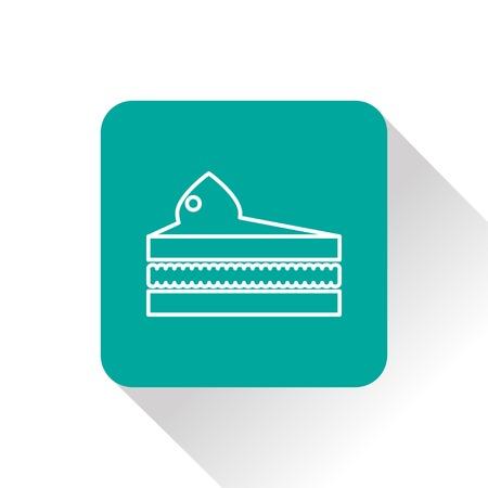 porcion de pastel: Vector icono de pieza de pastel. Icono del alimento. Eps10 Vectores