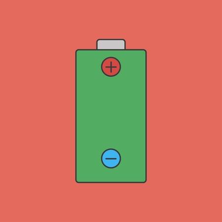 polarity: icon of battery