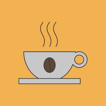 decaf: icon of coffee cup