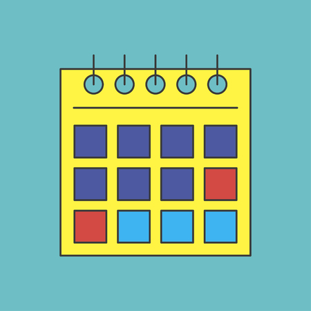 calendar icon: icon of calendar Illustration