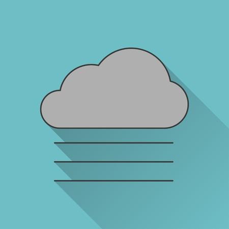 summer season: icon of foggy weather Illustration