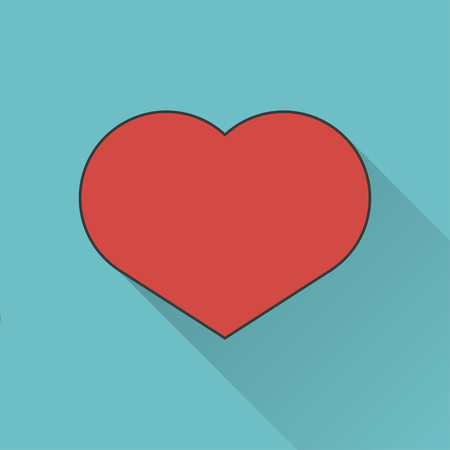 simplistic icon: icon of heart Illustration