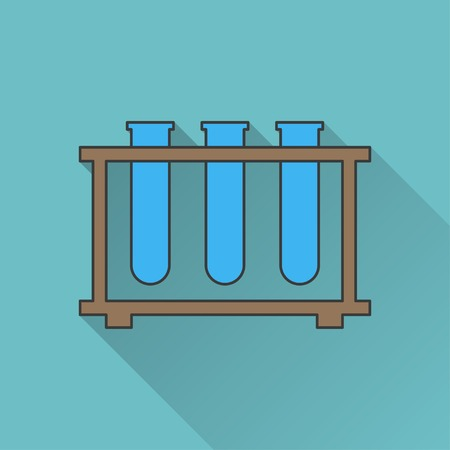a solution tube: icon of laboratory tubes
