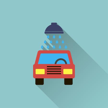 silhouette voiture: icône de lavage de voiture Illustration