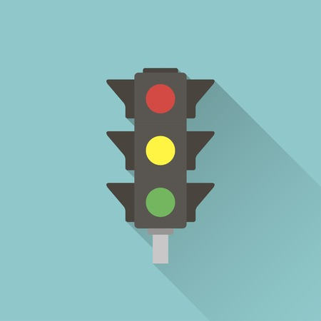 stop signs: icon of traffic light