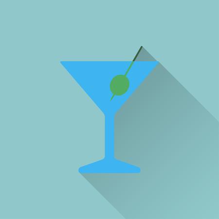 barra: icono de vaso de martini