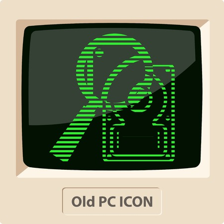 hard disk: icon of hard disk search