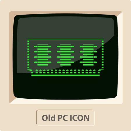 memory: icon of memory chip Illustration