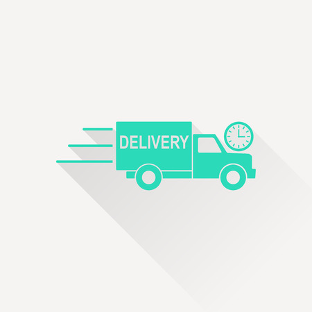 fragile industry: delivery truck with clock icon