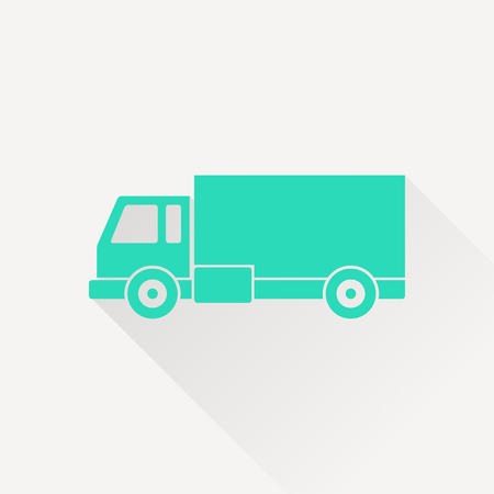 rushing: delivery truck icon Illustration
