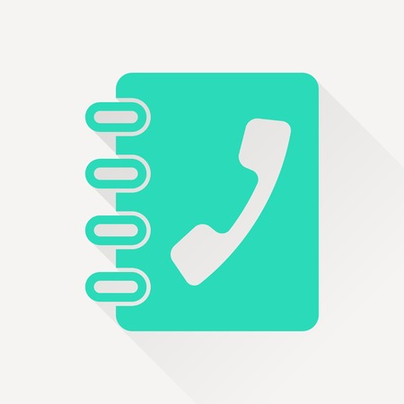 address book: address book icon Illustration