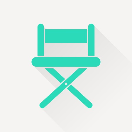 vector illustration of cinema director chair icon Illustration