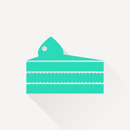 piece of cake: Vector piece of cake icon. Food icon. Eps10 Illustration