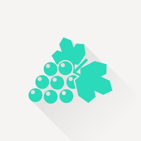 peasant household: Vector grape icon. Food icon. Eps10