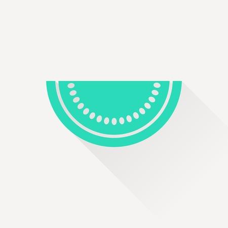 sweet segments: Vector watermelon slice icon. Food icon. Eps10 Illustration