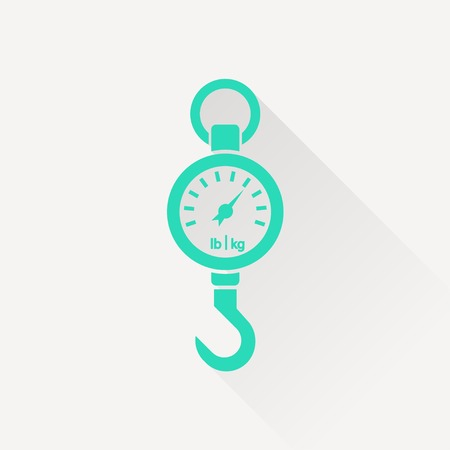 spring balance: Vector icon mechanical kitchen scales Illustration