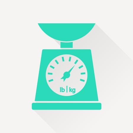 norm: Icono de escala cocina del vector en el fondo blanco