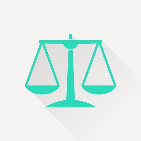 orange Justice scale icon on white background
