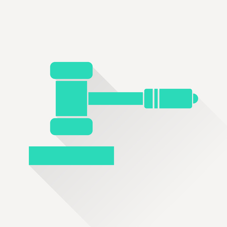 defendant: icon of judge or auction hammer