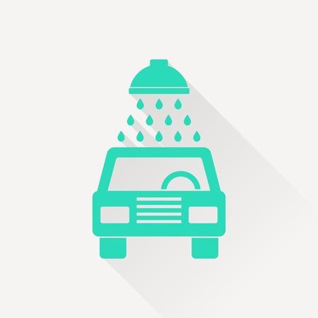 wash: icon of car wash Illustration