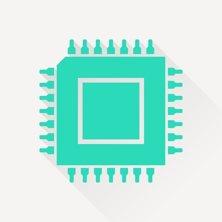electrical part: icon of microchip