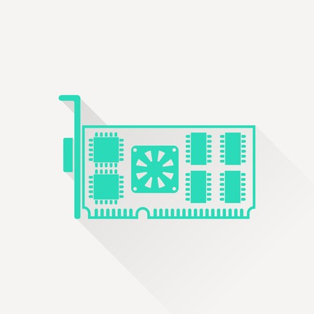 vga: icon of computer video card