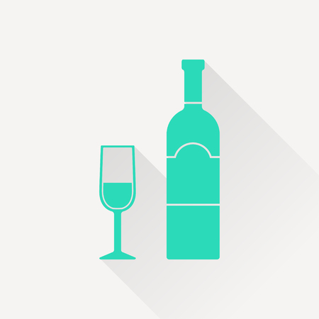 chardonnay: icon of wine glass with bottle
