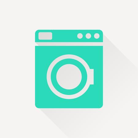 washhouse: icon of washing machine Illustration