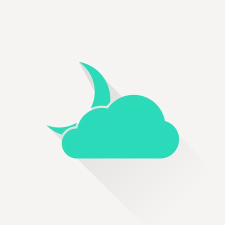 wheather: icon of cloudy night