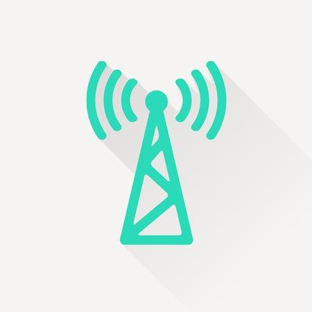 radio mast: icon of antenna Illustration