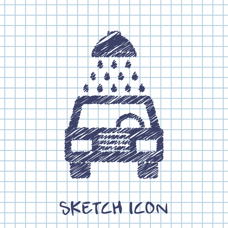 Vector icon of car wash blueprint style royalty free cliparts vector sketch icon of car wash vector malvernweather Images
