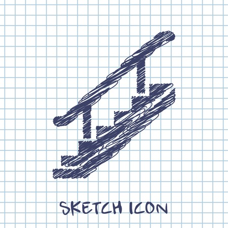 stairs: stairs vector sketch icon