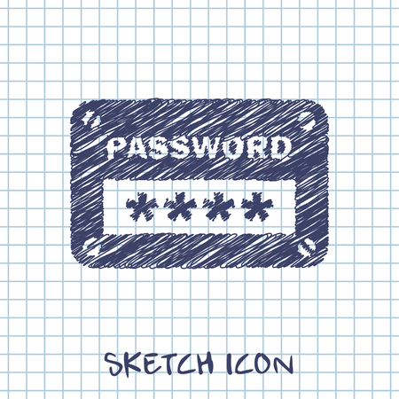input: password input ui window vector sketch icon