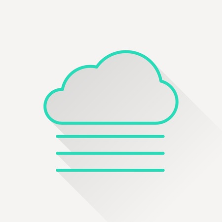 wheather forecast: icon of foggy weather Illustration