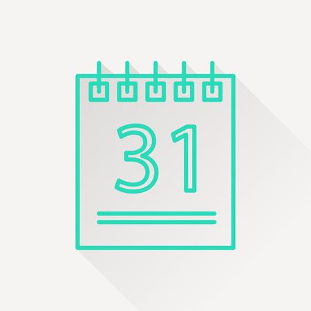 calender icon: icon of calendar Illustration