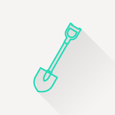 hand shovels: icon of spade Illustration