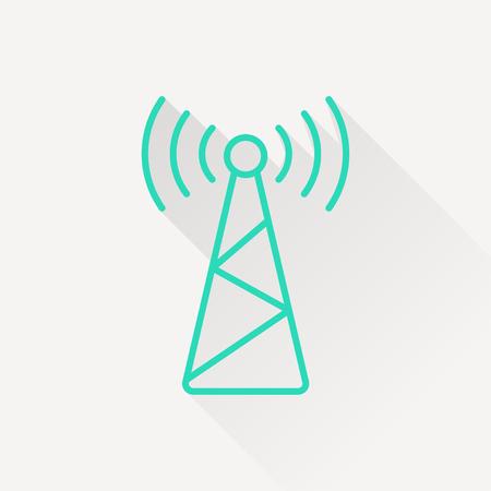 icon of antenna Illustration