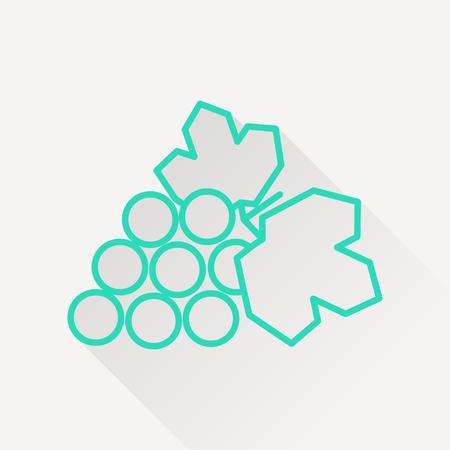 peasant household: Vector grape icon. Illustration