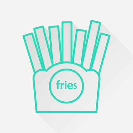 crispy: Vector french fries icon. Illustration