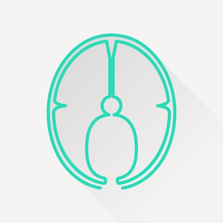 slice: Vector fish slice icon.
