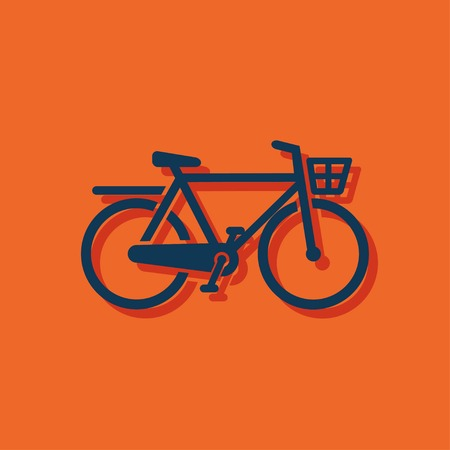 bicycle: City Bicycle icon Illustration
