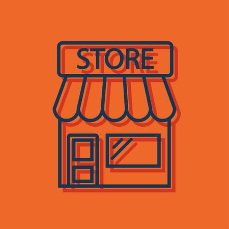 town cartoon: Store icon