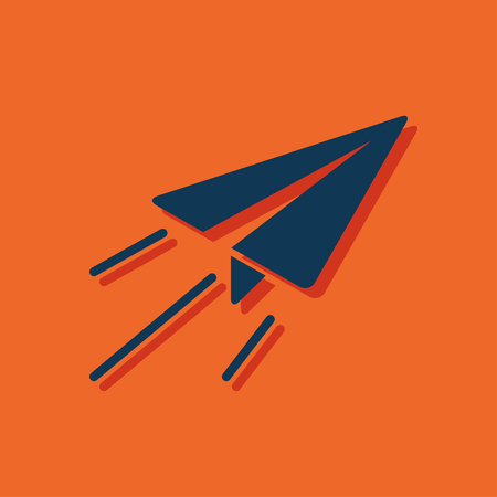 Paper plane sign airplane symbol travel vector blueprint icon paper plane sign airplane symbol travel icon vector malvernweather Gallery