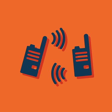 portability: vector illustration of modern radio Illustration