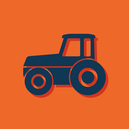 tractor in field: Tractor vector icon