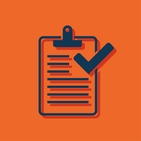 record office: Clipboard with checklist icon