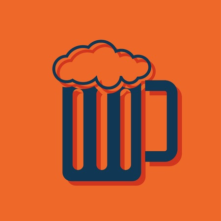 barley hop: Glass of beer icon Illustration