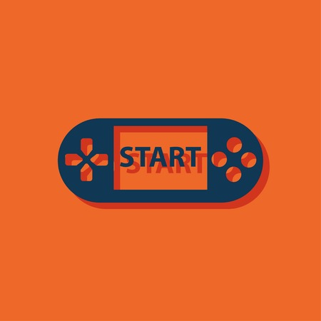 game console: Handheld game console icon Illustration